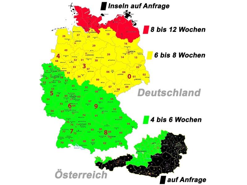 Wartezeiten für einen Montagetermin in Deutschland