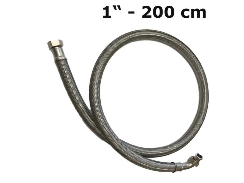 Panzerschlauch / Flexschlauch 1'' (200 cm lang) 2 x ÜM für Trinkwasser